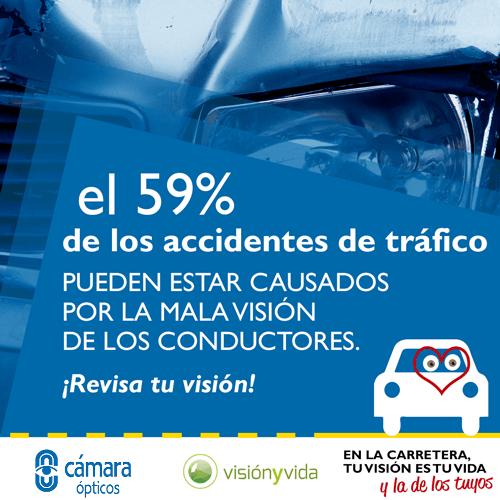 Campaña de concienciación sobre los peligros de una mala visión en carretera