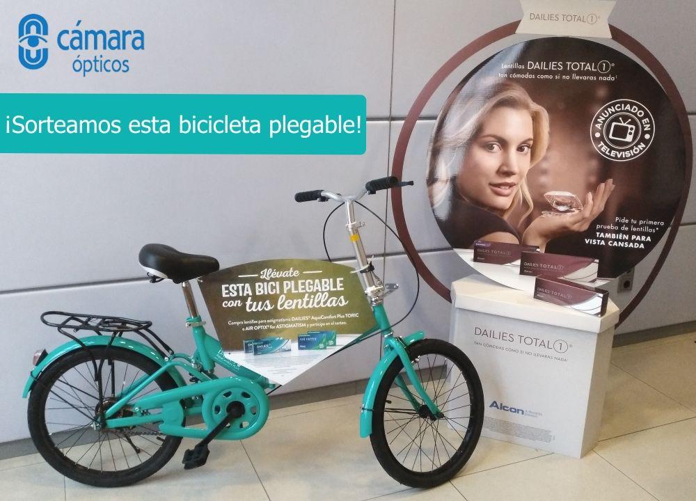 Llévate esta bicicleta plegable con tus lentes de contacto